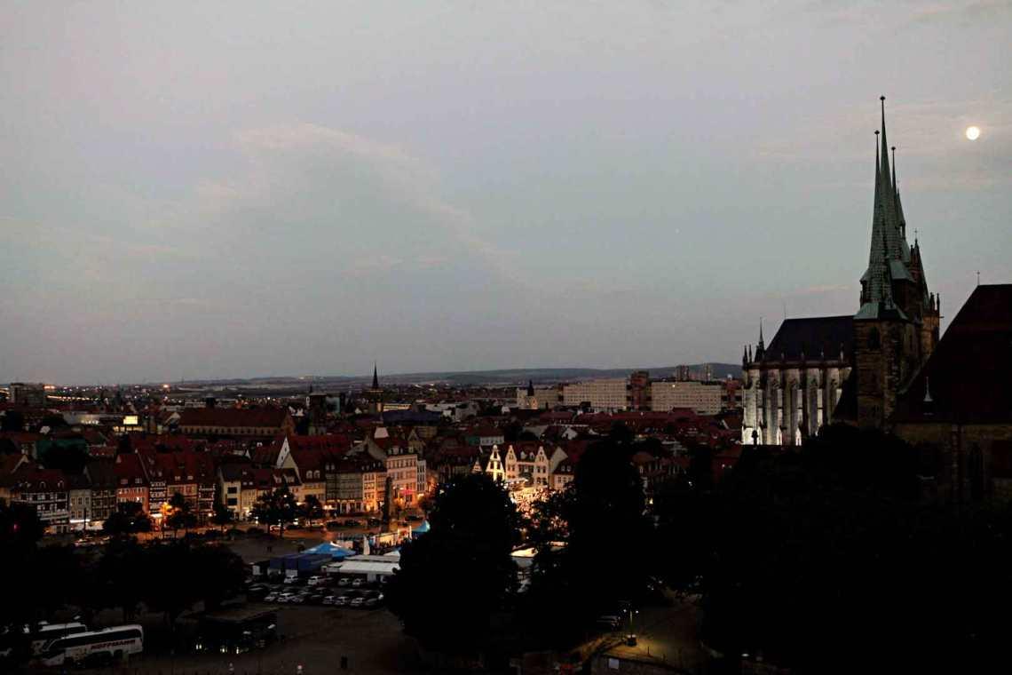 Night view of Erfurt, Germany
