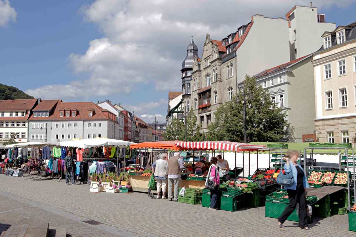 Open Market at Marktplatz Eisenach, Germany