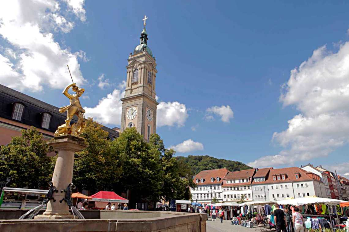 View of Marktplatz in Eisenach, Germany