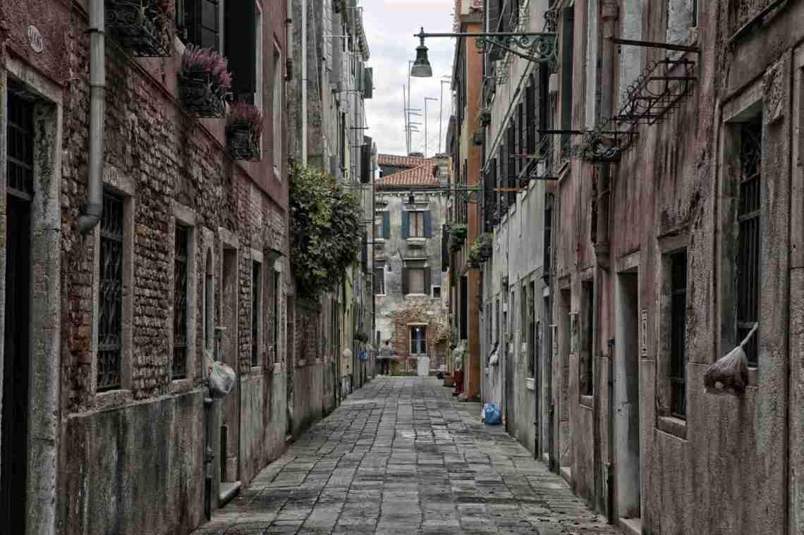 Venice, Italy Empty Street