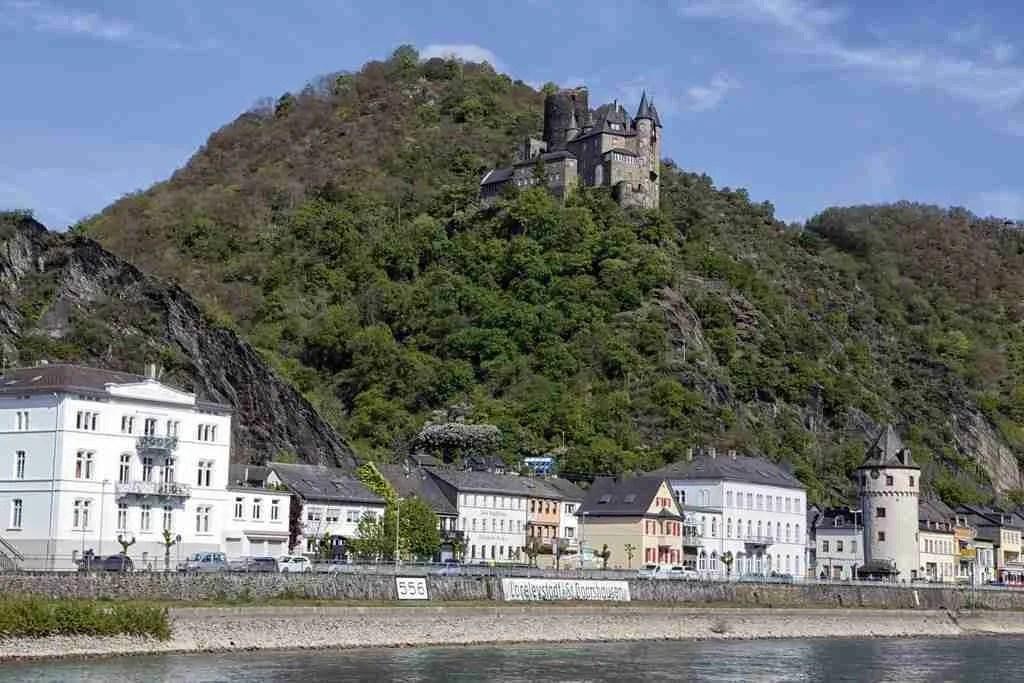 Sankt Goar and Burg Rheinfels Germany Rheinsteig