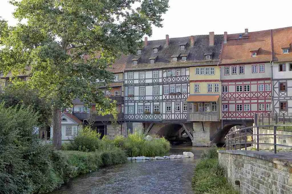 Merchant's Bridge in Erfurt, Germany