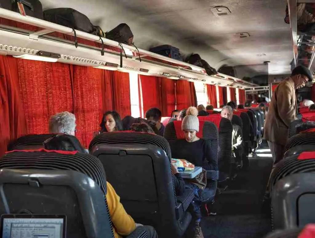 Inside a Morocco Train