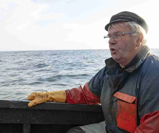 Uwe on the Boat