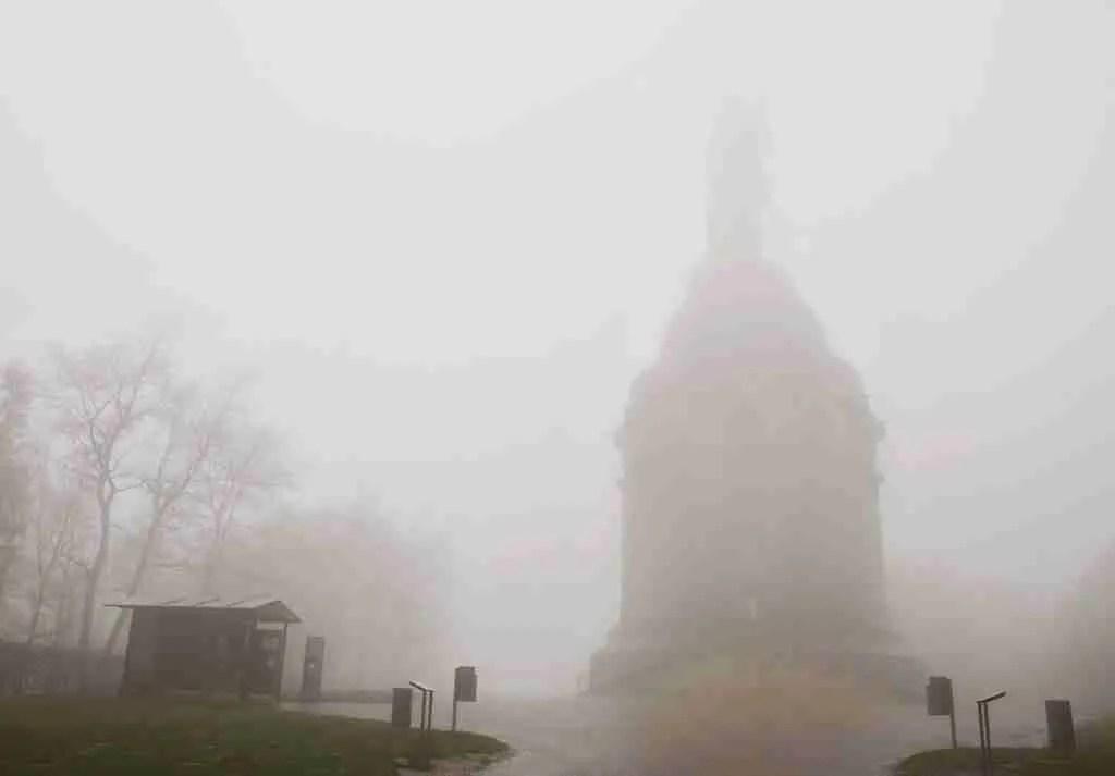 Hermannsdenkmal in the fog