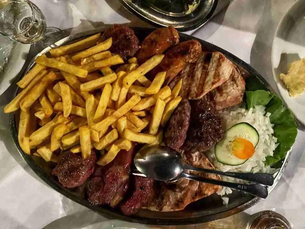 Belgrade Kafana Mixed Meat Plate