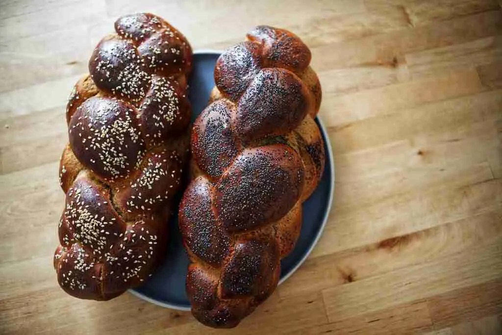 Challah baked with white whole wheat flour