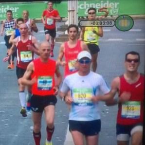 Paris Marathon - Heading Down Avenue Foch