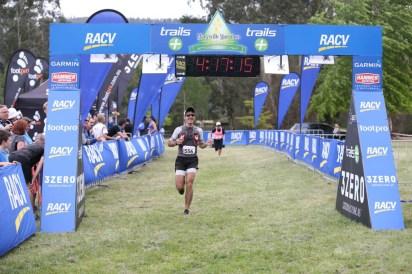 Marysville Marathon - Crossing the Line
