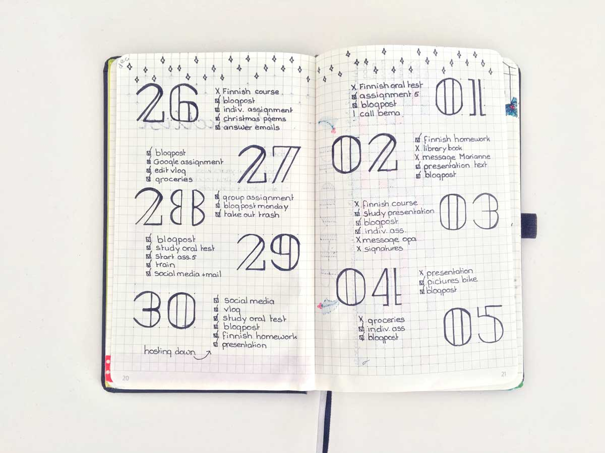 Image result for bullet journal