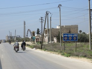The main street to Aleppo.