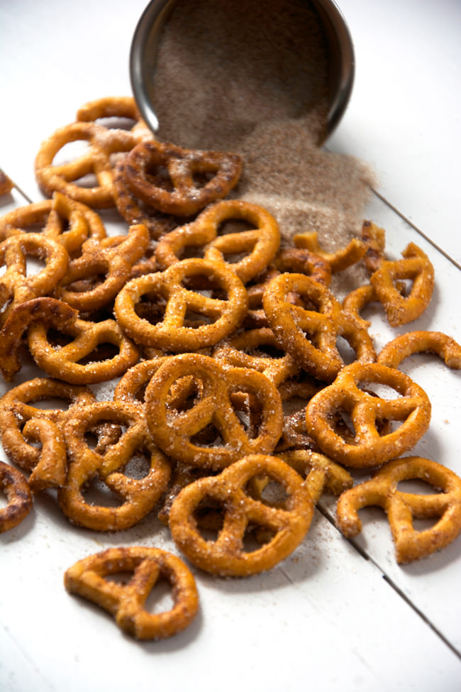 Four Ingredient Cinnamon Sugar Pretzels