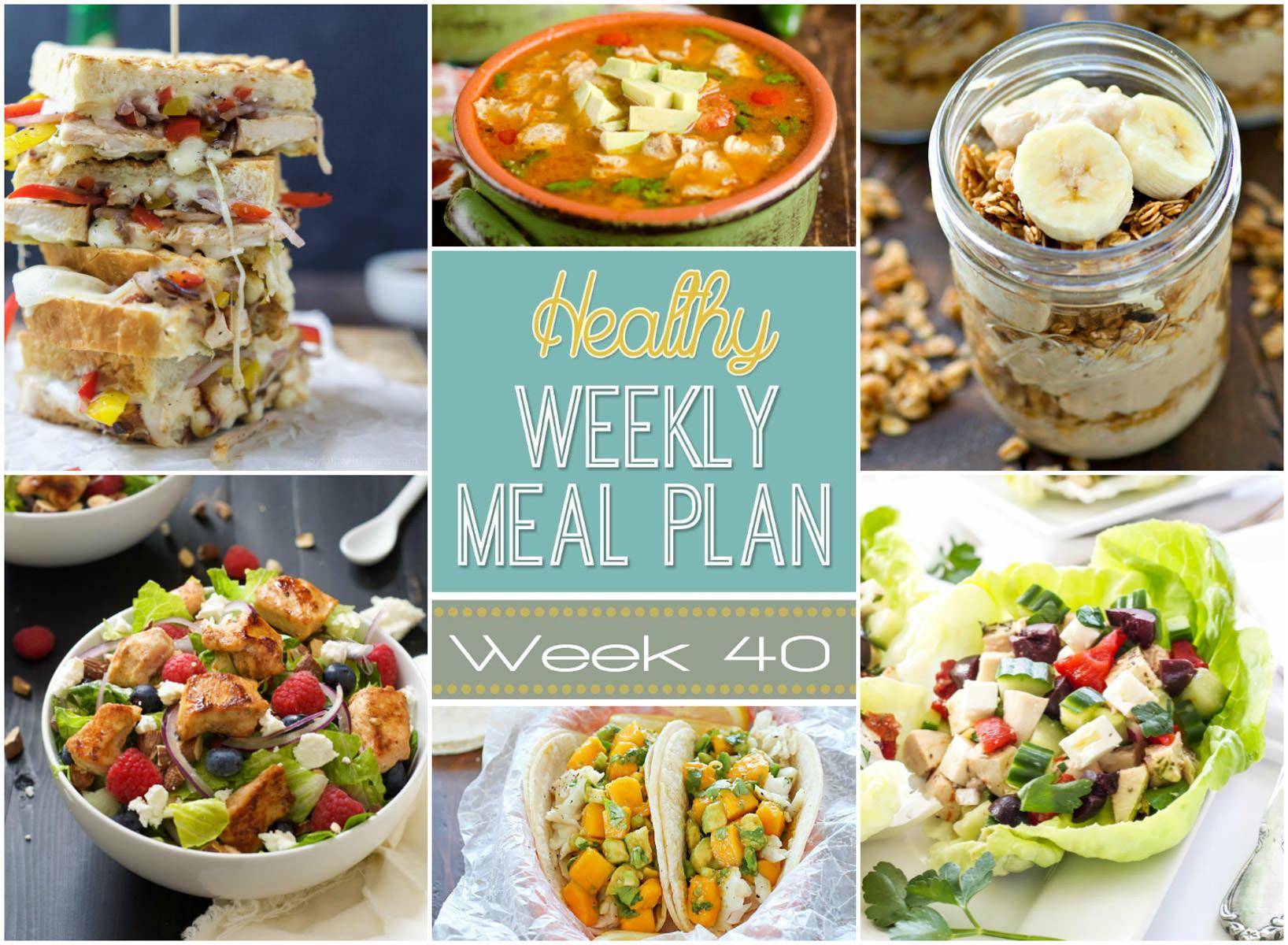 Healthy Meal Plan Week 40