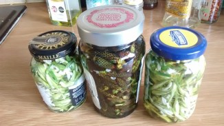 Pickled Three-Corner Leek and Plantain buds