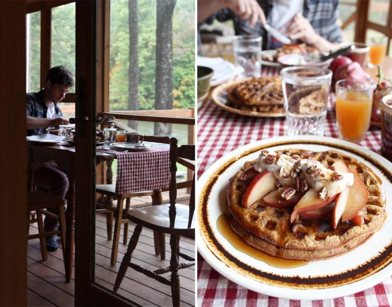 An Ode to a Cabin in Autumn: Pumpkin Waffles