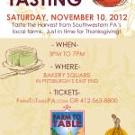 Giveaway: Farm to Table Tasting Event!