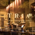 Abstract Wine Art and Summer Meadows: Tria Cafe (Philadelphia)