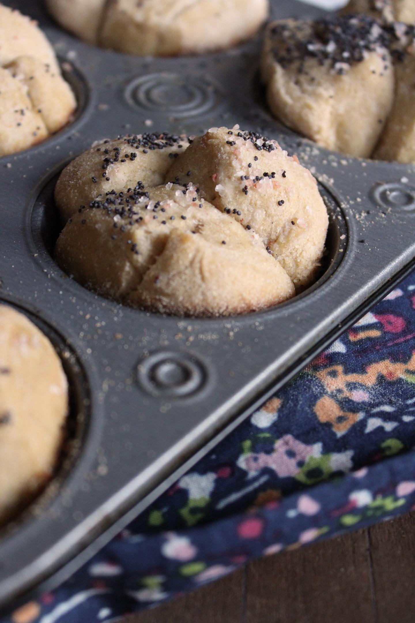 Cardamom Rolls in Muffin Tin