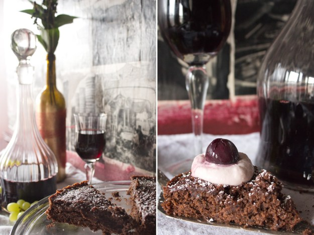 Wine Cake and Slice