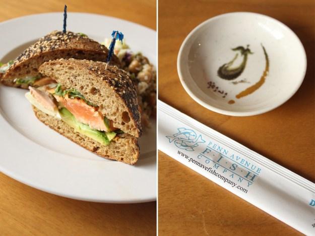 Penn Ave Fish Mrkt Salmon Sandwich