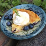 A Slice of Summer: Lemon, Rosemary & Blueberry, Almond Cake w/ Rosemary Lemon Syrup