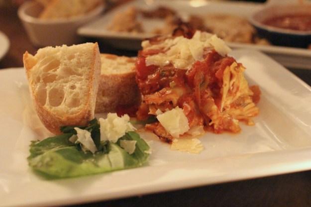 Lasagna before