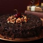 Chocolate Cherry Cake with Scotch & Smoked Sea Salt Butterscotch