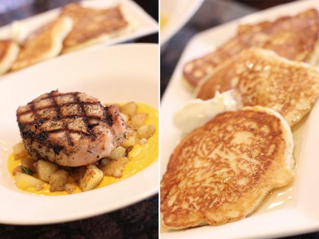 Porkchop and pancakes