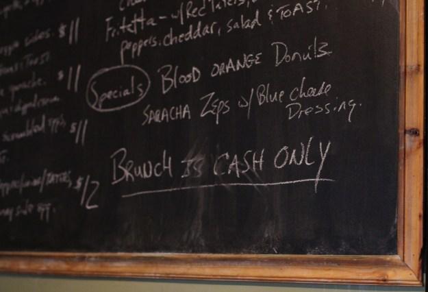 e2 chalkboard menu