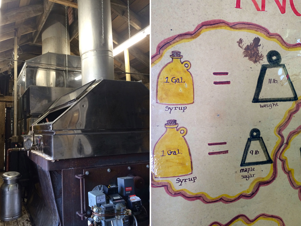 "The ""Sugar Shack"" conveys why maple syrup costs so much money by explaining the process from tree to pancake. The aging, handmade graphics are not to be missed!"