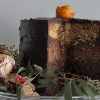 Whole-Wheat Chocolate & Caramel Ombre Cake