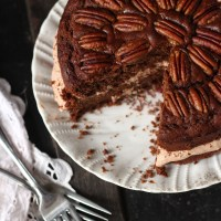 Maple Pecan Chocolate Cake for a Birthday BFF
