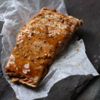 Simple Soy & Gyoza Roasted Salmon