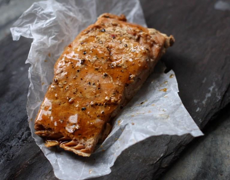 Simple Soy & Gyoza Roasted Salmon