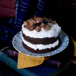 Whole Wheat Chocolate Wine Cake with Caramelized Figs