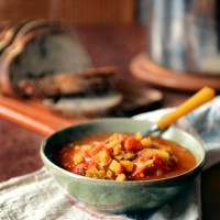 A Plentiful Pot of Roasted Tomato & Root Vegetable Soup