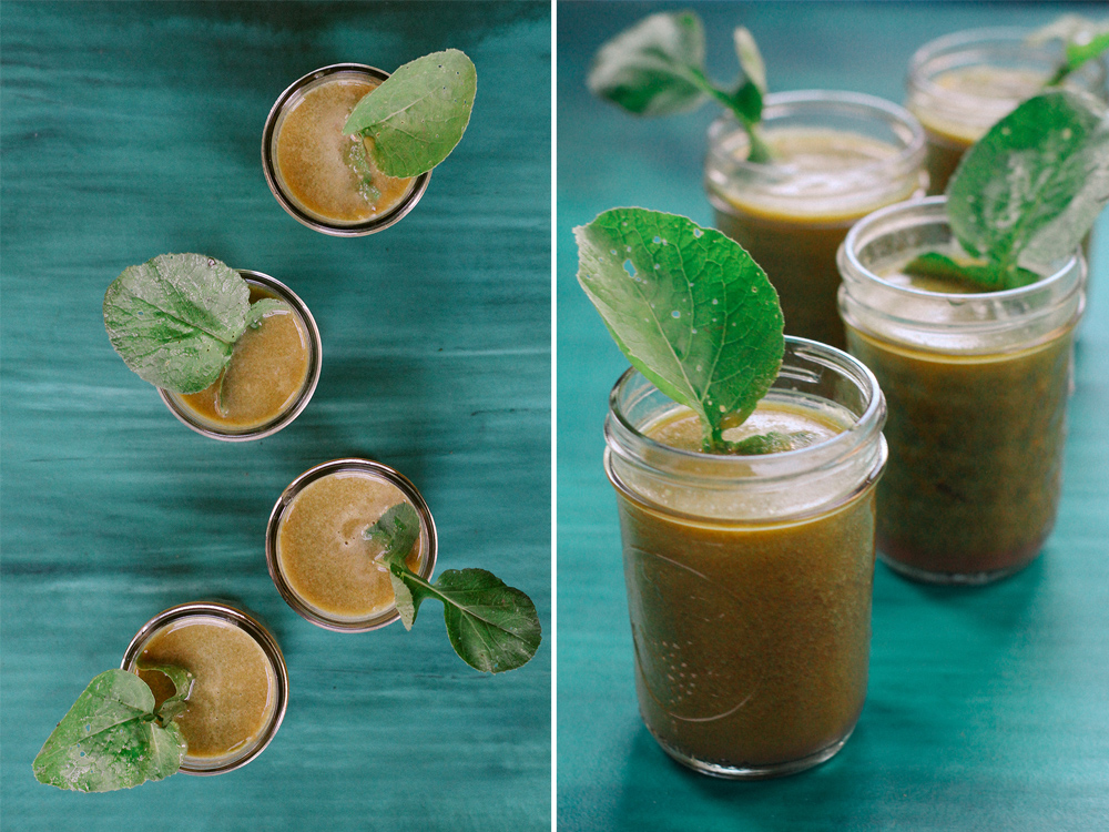 Kohlrabi Greens Juice by With The Grains