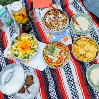 Peach Ceviche for a South American Inspired Summer Picnic