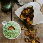 Turnip Chips & Turnip Greens Dip