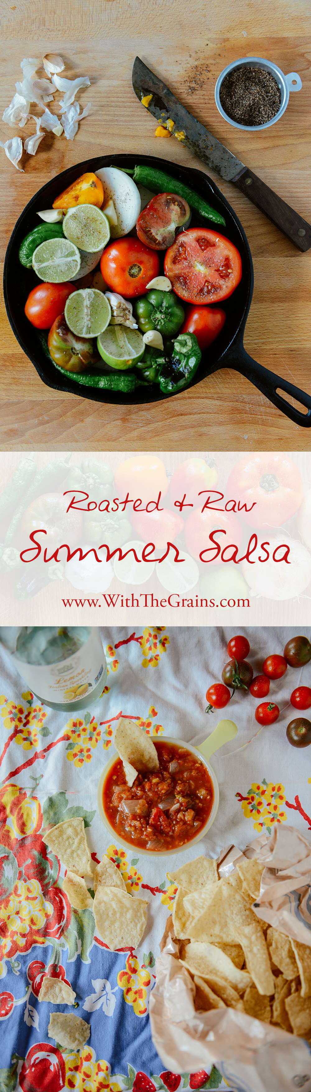 Roasted & Raw Summer Salsa // www.WithTheGrains.com