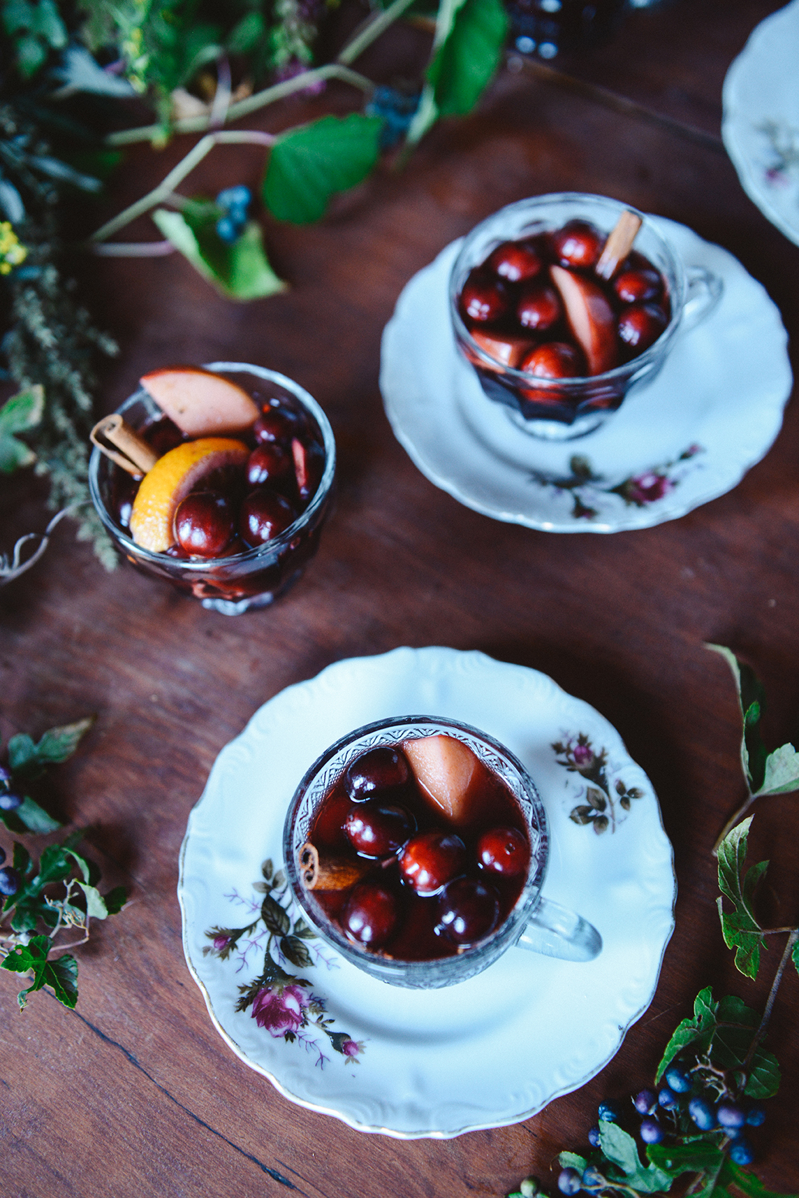 Mulled Wine and a Holiday Spread // www.WithTheGrains.com