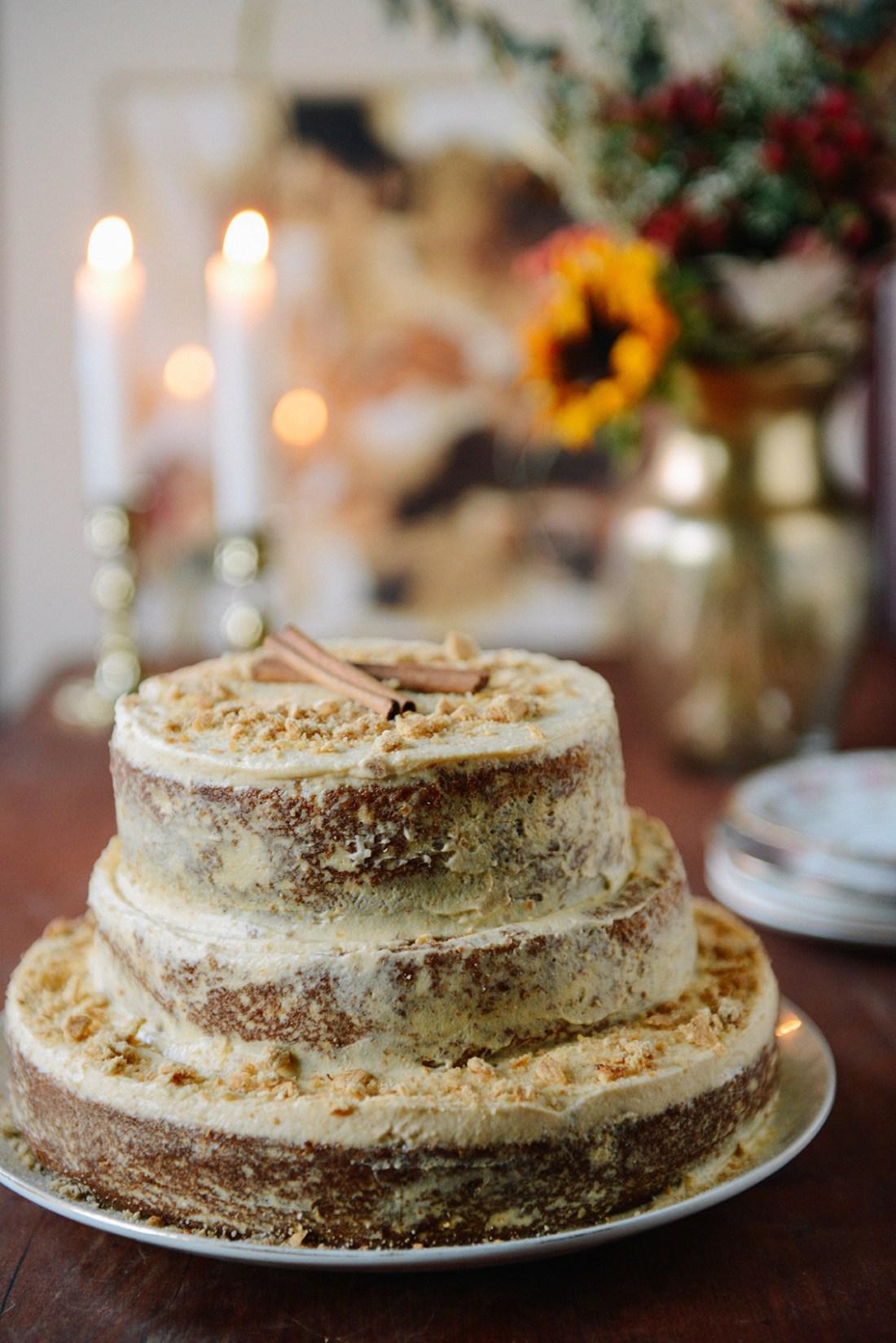 Sweet Potato Layer Cake with Sweet Potato Ricotta Frosting // www.WithTheGrains.com