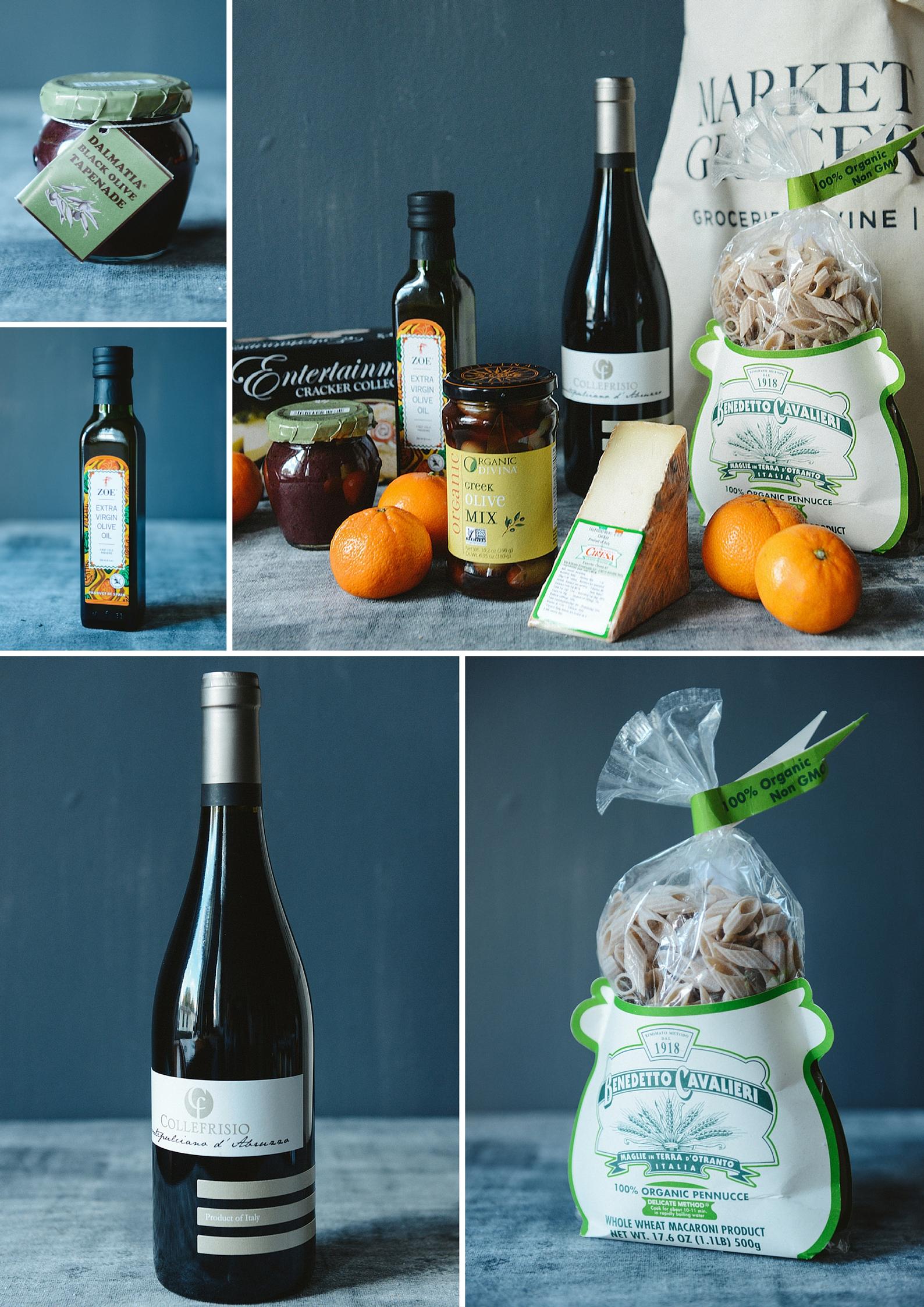 An Edible Gift Guide- the European Picnic Gift Bag // www.WithTheGrains.com
