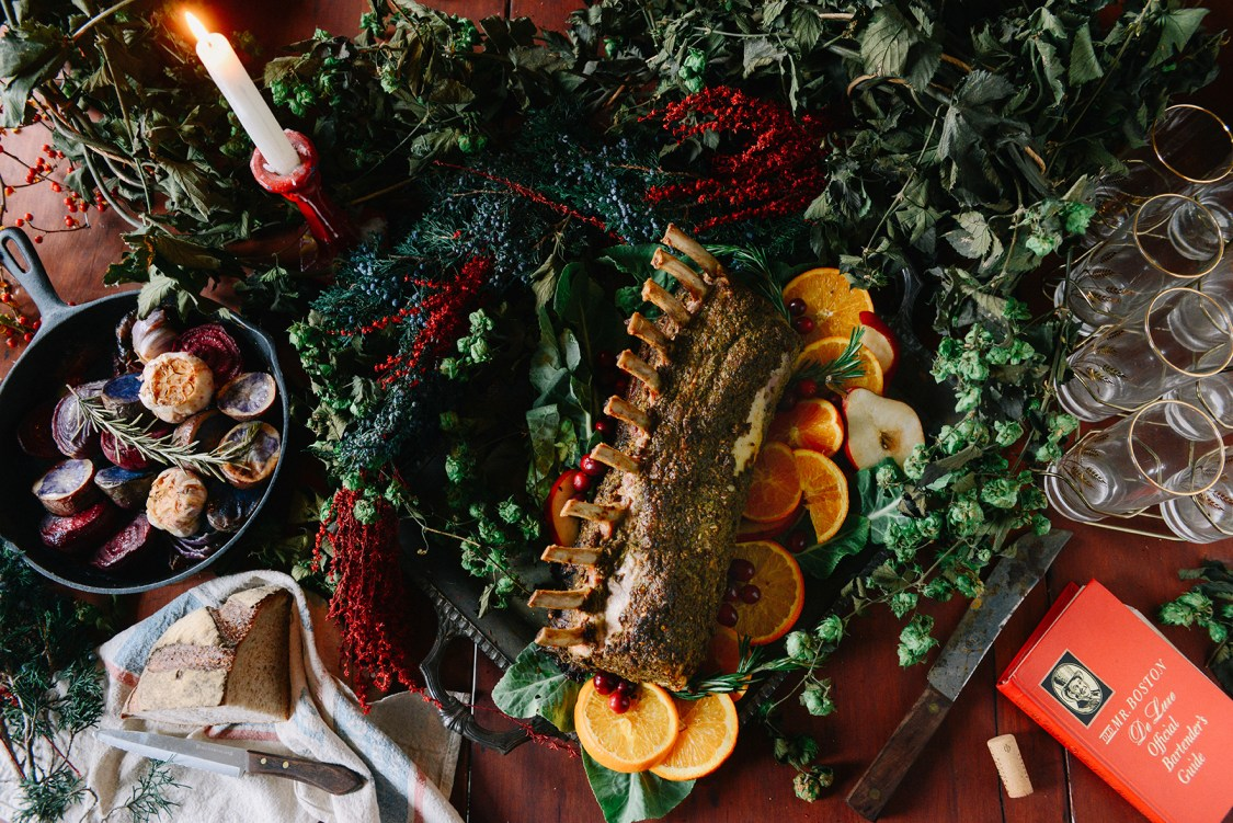 French Style Herb Crusted Pork Roast // www.WithTheGrains.com