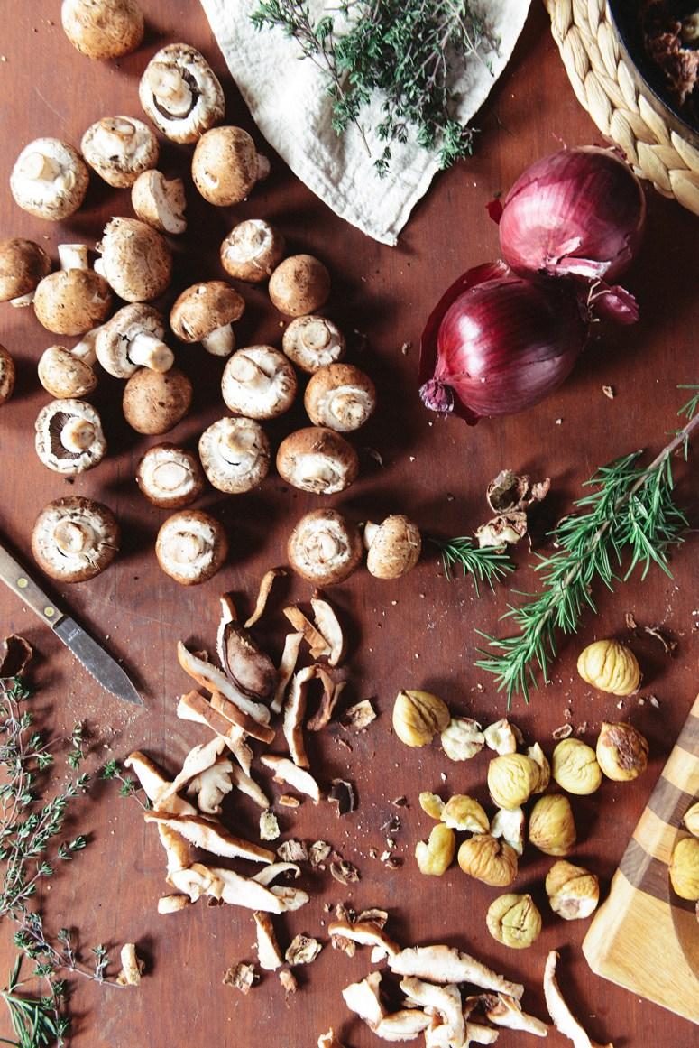 Creamy Chestnut & Mushroom Soup (Vegetarian)