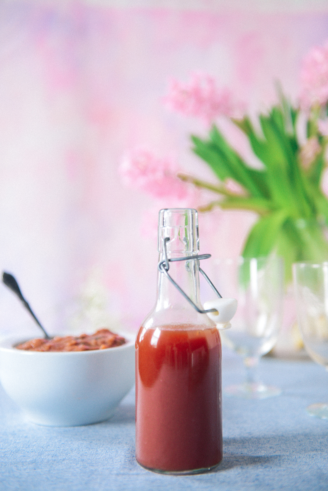 Strawberry Rhubarb Simple Syrup & Strawberry Rhubarb Compote // www.WithTheGrains.com