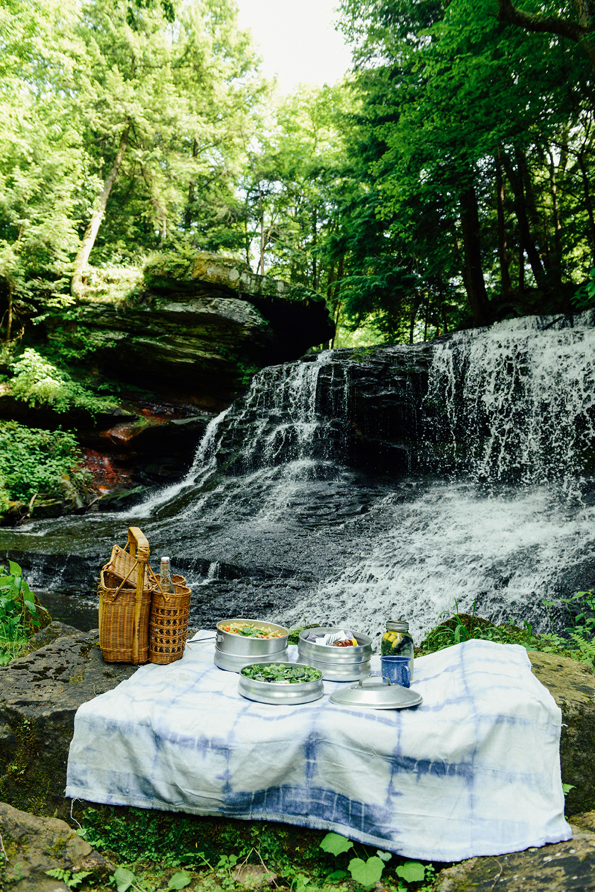 Summer Blueberry Salad Recipe for a Waterfall Picnic // www.WithTheGrains.com