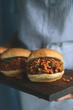 Vegan Lentil Sloppy Joes // www.WithTheGrains.com