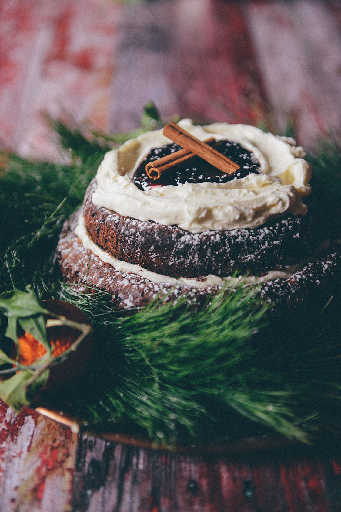 Fallen Chocolate Peppermint Cake // www.WithTheGrains.com