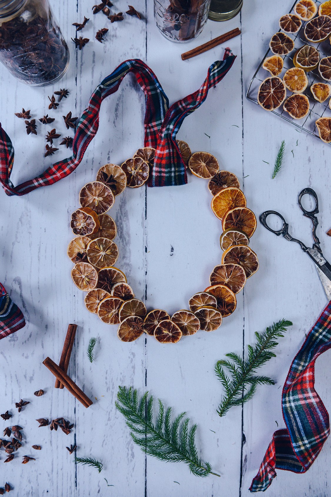 Oven Dehydrated Citrus for Holiday Decorating // www.WithTheGrains.com
